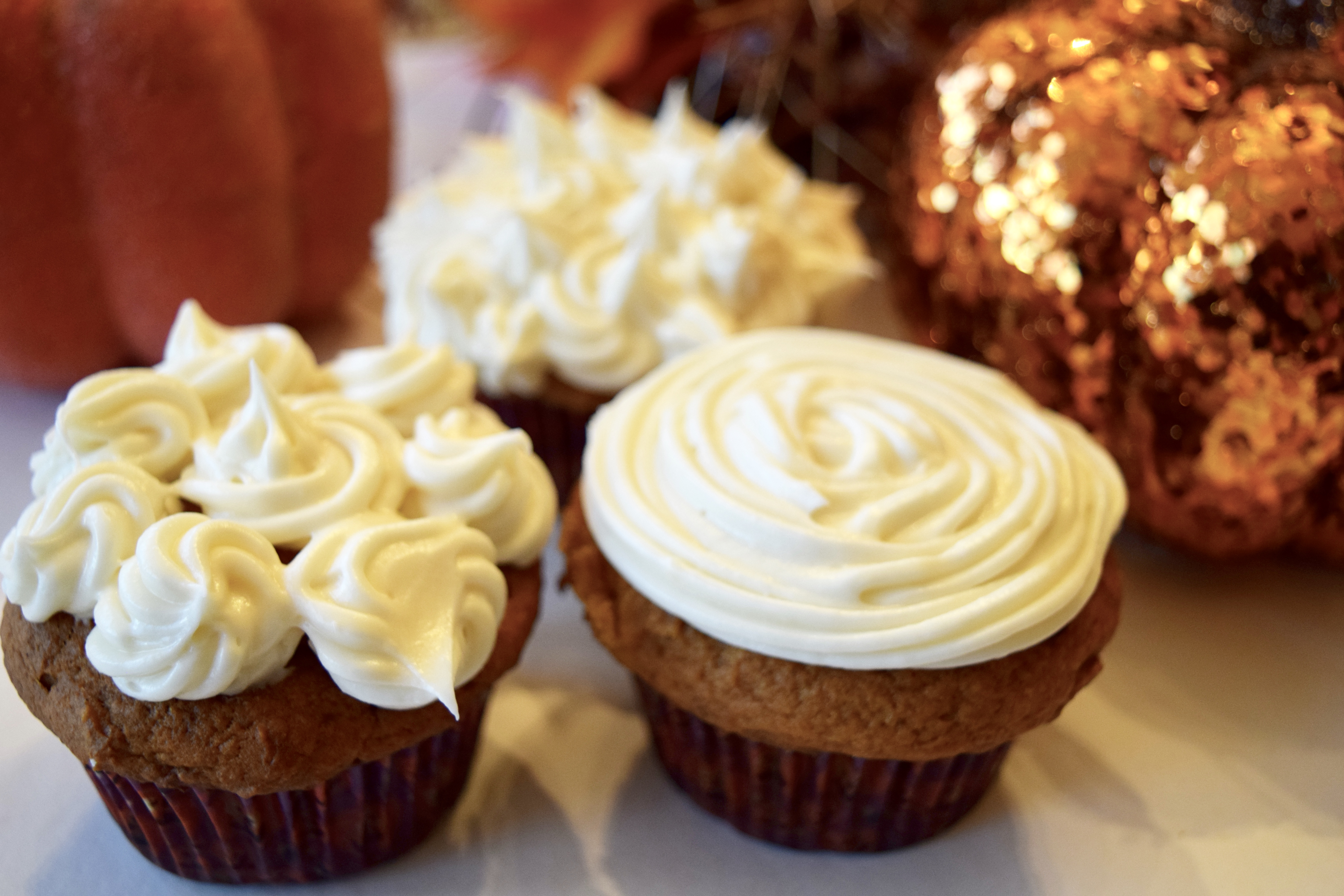 PUMPKIN CUPCAKES | One of my favorite fall these are these delicious cupcakes! So easy and they taste like the holidays :) Click Here for the recipe!